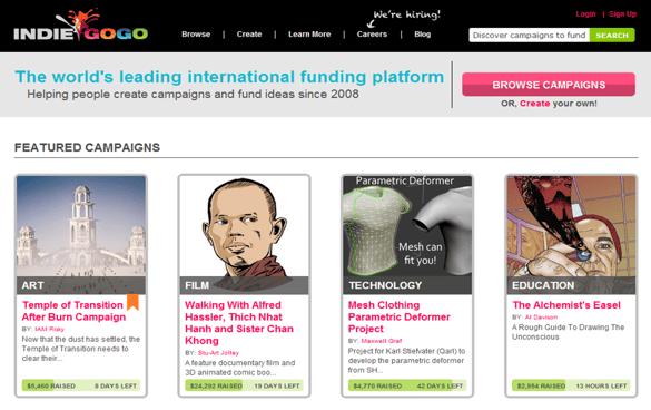 IndieGoGo Funding Platform